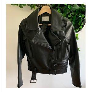 Oak & Fort Black Vegan Leather Jacket
